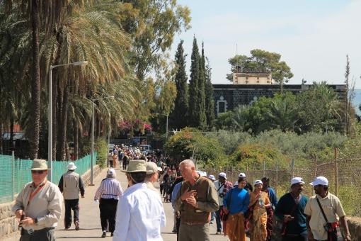 The walkway to Capernaum